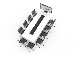 WorksZone Ellipse 10 Seat TechWell XL