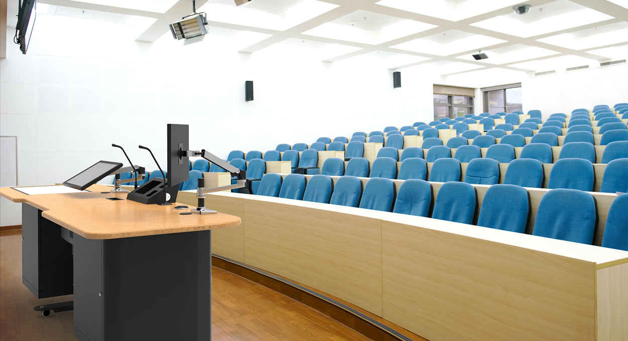 Air in lecture theatre