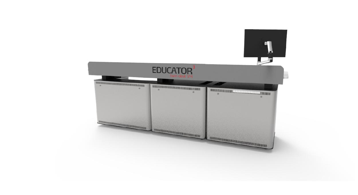Educator Twin Desk Back