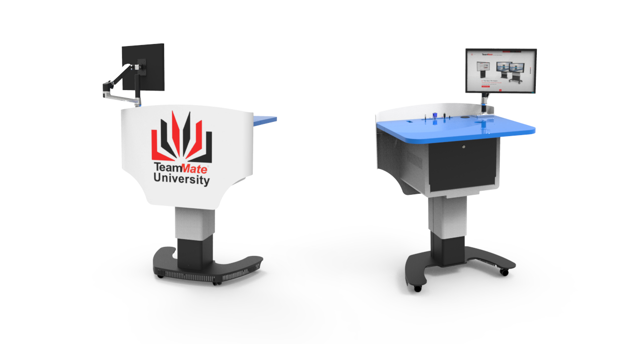 VariHite Lectern 7U Front and Back