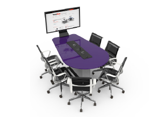 WorksZone Oval Table 6 Seat