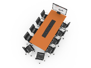 WorksZone Rectangle 10 Seat TechWell XL