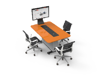 WorksZone Rectangle 3 Seat
