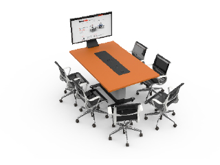 WorksZone Rectangle 6 Seat TechWell XL