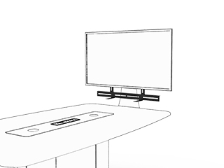 WorksZone Sound Bar Shelf