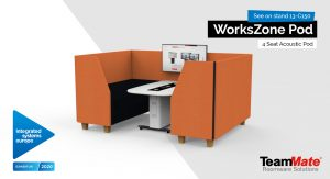 WorksZone Acoustic Pod 4 Seat ISE 2020