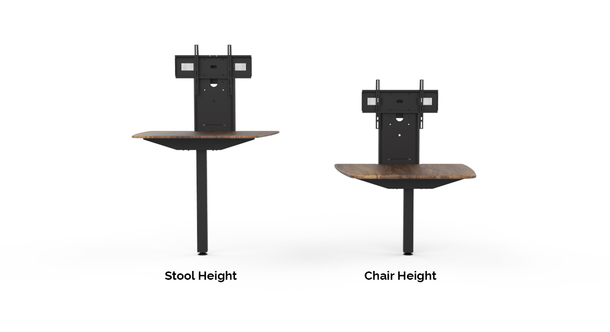 HuddleZone Stool Height and Chair Height